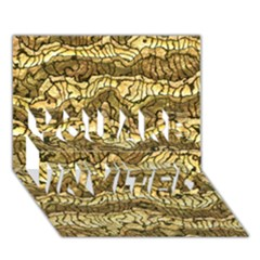 Alien Skin Hot Golden YOU ARE INVITED 3D Greeting Card (7x5)