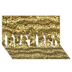 Alien Skin Hot Golden BEST BRO 3D Greeting Card (8x4)