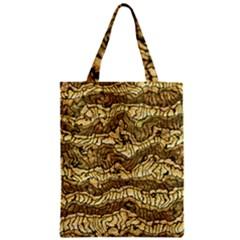 Alien Skin Hot Golden Zipper Classic Tote Bags