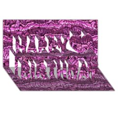Alien Skin Hot Pink Happy Birthday 3D Greeting Card (8x4)