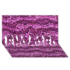 Alien Skin Hot Pink ENGAGED 3D Greeting Card (8x4)