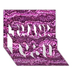 Alien Skin Hot Pink Thank You 3d Greeting Card (7x5)
