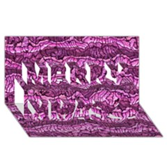 Alien Skin Hot Pink Merry Xmas 3D Greeting Card (8x4)