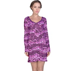 Alien Skin Hot Pink Long Sleeve Nightdresses