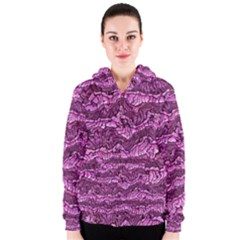 Alien Skin Hot Pink Women s Zipper Hoodies
