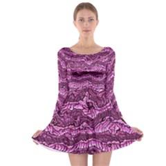 Alien Skin Hot Pink Long Sleeve Skater Dress