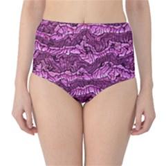 Alien Skin Hot Pink High Waist Bikini Bottoms
