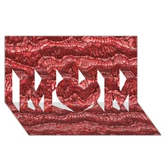 Alien Skin Red Mom 3d Greeting Card (8x4)
