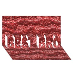 Alien Skin Red BEST BRO 3D Greeting Card (8x4)
