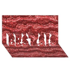 Alien Skin Red BEST SIS 3D Greeting Card (8x4)