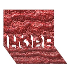 Alien Skin Red HOPE 3D Greeting Card (7x5)
