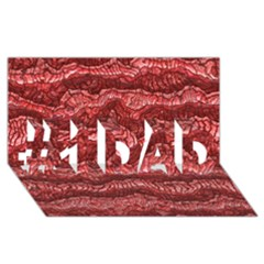 Alien Skin Red #1 DAD 3D Greeting Card (8x4)