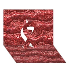 Alien Skin Red Ribbon 3D Greeting Card (7x5)