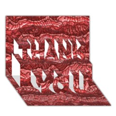 Alien Skin Red THANK YOU 3D Greeting Card (7x5)