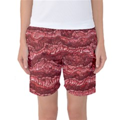 Alien Skin Red Women s Basketball Shorts