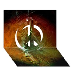 Beautiful Abstract Floral Design Peace Sign 3D Greeting Card (7x5)