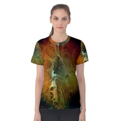 Beautiful Abstract Floral Design Women s Cotton Tees