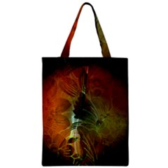 Beautiful Abstract Floral Design Zipper Classic Tote Bags