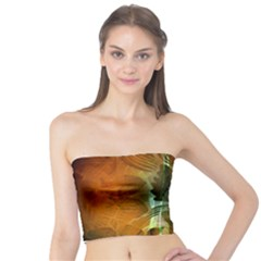 Beautiful Abstract Floral Design Women s Tube Tops