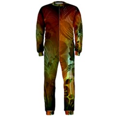 Beautiful Abstract Floral Design Onepiece Jumpsuit (men)