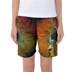 Beautiful Abstract Floral Design Women s Basketball Shorts