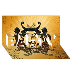 Clef With Awesome Figurative And Floral Elements Party 3d Greeting Card (8x4)