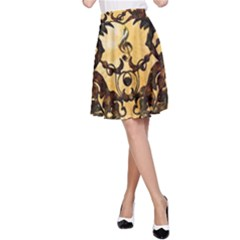 Clef With Awesome Figurative And Floral Elements A-Line Skirts