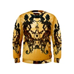 Clef With Awesome Figurative And Floral Elements Boys  Sweatshirts