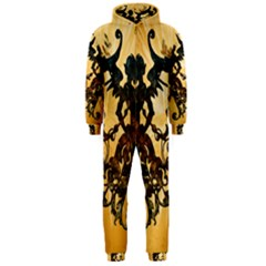 Clef With Awesome Figurative And Floral Elements Hooded Jumpsuit (Men)