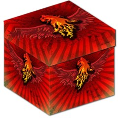 Lion With Flame And Wings In Yellow And Red Storage Stool 12