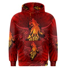 Lion With Flame And Wings In Yellow And Red Men s Pullover Hoodies