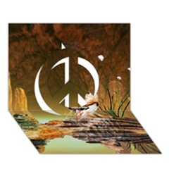 Wonderful Undergraund World Peace Sign 3D Greeting Card (7x5)