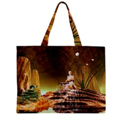 Wonderful Undergraund World Zipper Tiny Tote Bags
