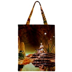 Wonderful Undergraund World Zipper Classic Tote Bags
