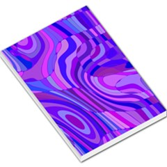 Retro Abstract Blue Pink Large Memo Pads