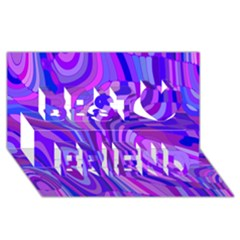 Retro Abstract Blue Pink Best Friends 3D Greeting Card (8x4)