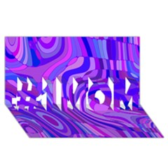 Retro Abstract Blue Pink #1 MOM 3D Greeting Cards (8x4)
