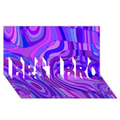 Retro Abstract Blue Pink BEST BRO 3D Greeting Card (8x4)