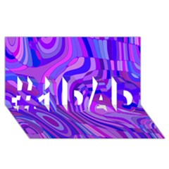 Retro Abstract Blue Pink #1 DAD 3D Greeting Card (8x4)