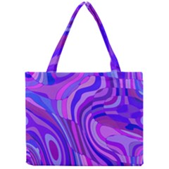 Retro Abstract Blue Pink Tiny Tote Bags