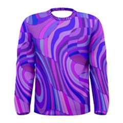 Retro Abstract Blue Pink Men s Long Sleeve T-shirts