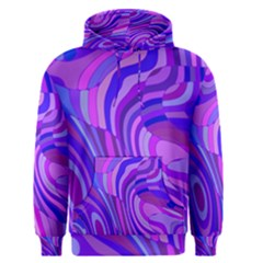 Retro Abstract Blue Pink Men s Pullover Hoodies