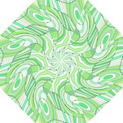 Retro Abstract Green Folding Umbrellas