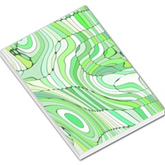 Retro Abstract Green Large Memo Pads
