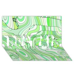 Retro Abstract Green BEST SIS 3D Greeting Card (8x4)