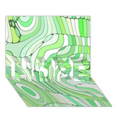 Retro Abstract Green HOPE 3D Greeting Card (7x5)