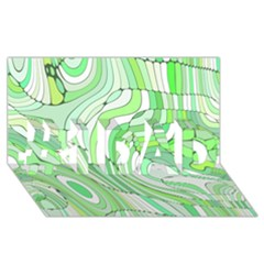 Retro Abstract Green #1 DAD 3D Greeting Card (8x4)