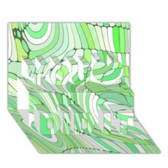 Retro Abstract Green You Did It 3D Greeting Card (7x5)