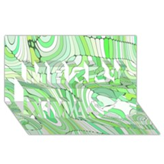 Retro Abstract Green Merry Xmas 3D Greeting Card (8x4)
