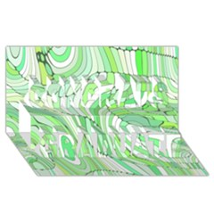 Retro Abstract Green Congrats Graduate 3D Greeting Card (8x4)